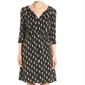 Nordstrom Collection Black & White Silk Dress